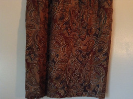 Brown and Gold Patterned Skirt by Evan Picone Pockets 100 Percent Rayon Size 12 image 3