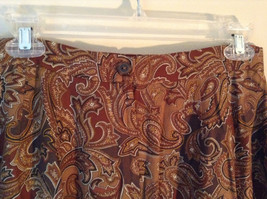 Brown and Gold Patterned Skirt by Evan Picone Pockets 100 Percent Rayon Size 12 image 4