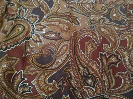Brown and Gold Patterned Skirt by Evan Picone Pockets 100 Percent Rayon Size 12 image 7