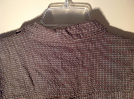 Brown Square Pattern Button Up Collar Long Sleeve Casual Shirt by United Size L image 6
