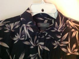 Bruno Size Large Button Up Short Sleeve Shirt 100 Percent Silk Floral One Pocket image 3