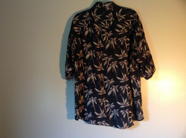 Bruno Size Large Button Up Short Sleeve Shirt 100 Percent Silk Floral One Pocket image 5