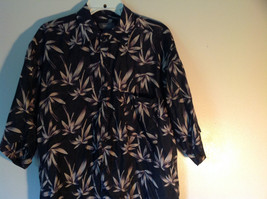 Bruno Size Large Button Up Short Sleeve Shirt 100 Percent Silk Floral One Pocket image 2