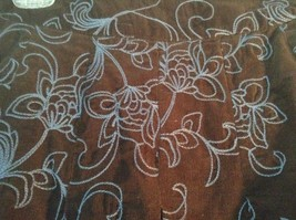 Brown with Blue Flowers Corduroy Skirt by Boden No Size Tag Measurements Below image 3