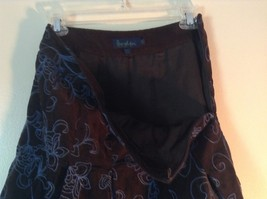 Brown with Blue Flowers Corduroy Skirt by Boden No Size Tag Measurements Below image 5