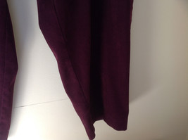 Burgundy Elastic Waist Alfred Dunner Pants Two Pockets Size 22W image 4