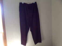 Burgundy Elastic Waist Alfred Dunner Pants Two Pockets Size 22W image 5