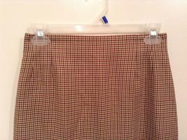 Brown Plaid Size 4 Liz Claiborne Classics Skirt Fully Lined Back Zipper Closure image 2
