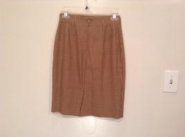 Brown Plaid Size 4 Liz Claiborne Classics Skirt Fully Lined Back Zipper Closure image 4