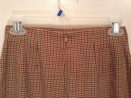 Brown Plaid Size 4 Liz Claiborne Classics Skirt Fully Lined Back Zipper Closure image 5