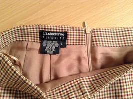 Brown Plaid Size 4 Liz Claiborne Classics Skirt Fully Lined Back Zipper Closure image 6