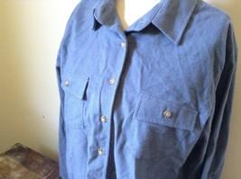 Button Down Blue 100 Percent Cotton L L Bean Long Sleeve Shirt Size L Regular image 3