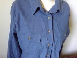 Button Down Blue 100 Percent Cotton L L Bean Long Sleeve Shirt Size L Regular image 2