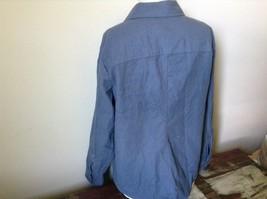 Button Down Blue 100 Percent Cotton L L Bean Long Sleeve Shirt Size L Regular image 5