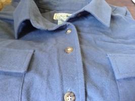 Button Down Blue 100 Percent Cotton L L Bean Long Sleeve Shirt Size L Regular image 7
