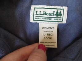 Button Down Blue 100 Percent Cotton L L Bean Long Sleeve Shirt Size L Regular image 6