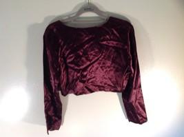 CDC Petites Burgundy Short Shiny Long Sleeve Blouse Size 8 Made in USA image 3