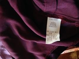 CDC Petites Burgundy Short Shiny Long Sleeve Blouse Size 8 Made in USA image 6