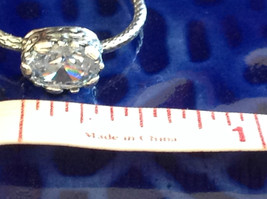 CZ Cubic Zirconia Glittering Sterling Silver Faceted Ring Size 8 image 8