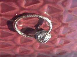 CZ Cubic Zirconia Glittering Sterling Silver Faceted Ring Size 8 image 4