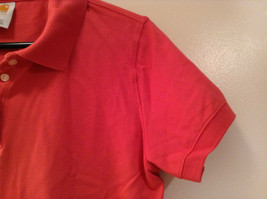 Carhartt Size Large Red Short Sleeve Cotton Blend Polo Shirt image 3