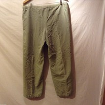 Caribbean Joe Womans Olive Green Pants, Size Medium image 2