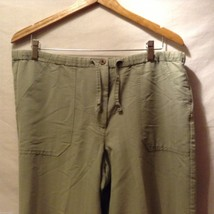 Caribbean Joe Womans Olive Green Pants, Size Medium image 3