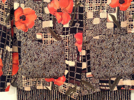 Carole Little Petites Blouse and Pant Set Abstract Print with Brown Red Flowers image 9