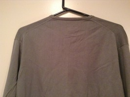 Calvin Klein V Neck Gray Long Sleeve 100 Percent Cotton Sweater Size Large image 4
