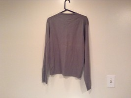 Calvin Klein V Neck Gray Long Sleeve 100 Percent Cotton Sweater Size Large image 3