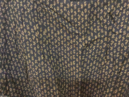 Calvin Klein Sport Navy Blue Tan pattern Crew Neck Sleeveless Blouse, Size L image 3