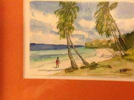 Caribbean water color framed Pamela Wright beach image 4