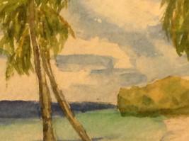 Caribbean water color framed Pamela Wright beach image 6