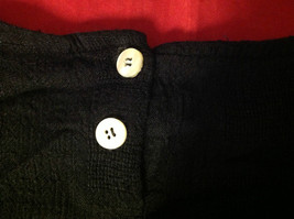 Cappagallo Sport Ladies Black Blouse 2 White Buttons at Neck Size Small/Medium image 4