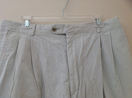 Carnoustie Khaki Pleated 4 Pocket Dress Shorts Size 36 image 2