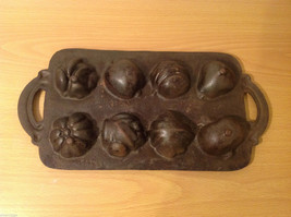 Cast Iron Cookie Mold Heavy Bake 8 Different Shaped Cookies or Muffins image 4
