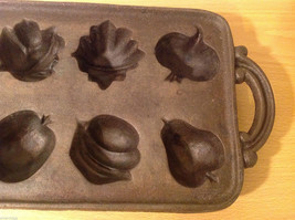 Cast Iron Cookie Mold Heavy Bake 8 Different Shaped Cookies or Muffins image 3