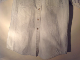 Casual Off White Button Up Collared Short Sleeve Shirt Carhartt 2 Pockets image 4