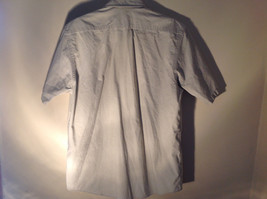 Casual Off White Button Up Collared Short Sleeve Shirt Carhartt 2 Pockets image 6