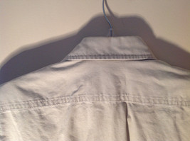 Casual Off White Button Up Collared Short Sleeve Shirt Carhartt 2 Pockets image 7