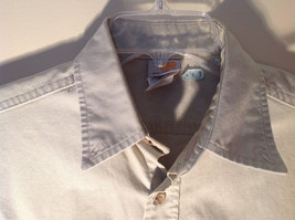 Casual Off White Button Up Collared Short Sleeve Shirt Carhartt 2 Pockets image 3
