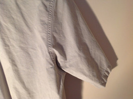 Casual Off White Button Up Collared Short Sleeve Shirt Carhartt 2 Pockets image 8