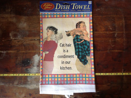 Cat Hair is a Condiment in our kitchen Dish Towel by Fiddlers Elbow image 2