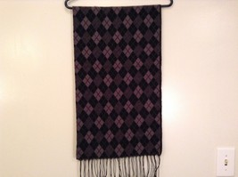 Cashmere feel soft warm  scarf in argyle diamond choice of color image 2