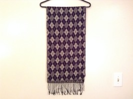 Cashmere feel soft warm  scarf in argyle diamond choice of color image 7