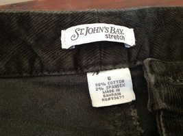 Casual Green Pants by St Johns Bay Stretch Front and Back Pockets Size 6 image 10