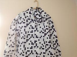 Cats Pajamas Flannel Pajama Set w Crossword Pattern & Eye Mask S or L choice image 2