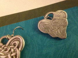 Celtic Heart earrings Cynthia Webb pewter with sterling silver ear wires image 3