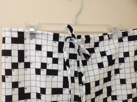 Cats Pajamas Flannel Pajama Set w Crossword Pattern & Eye Mask S or L choice image 6