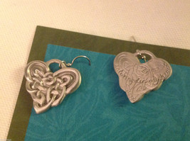 Celtic Heart earrings Cynthia Webb pewter with sterling silver ear wires image 4